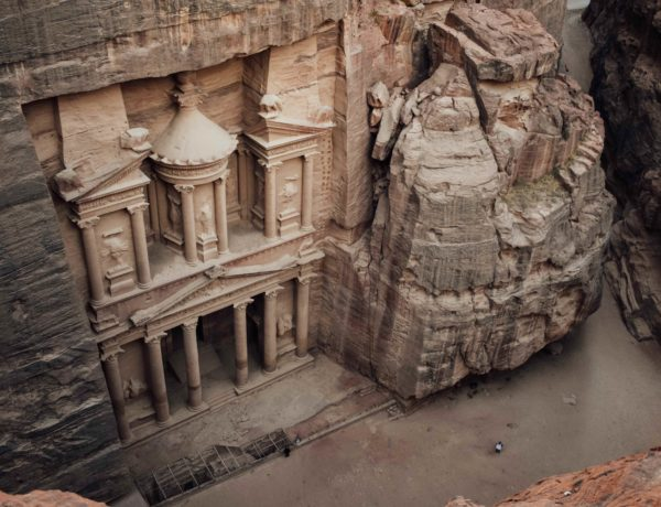 Petra travel guide Treasury view from above