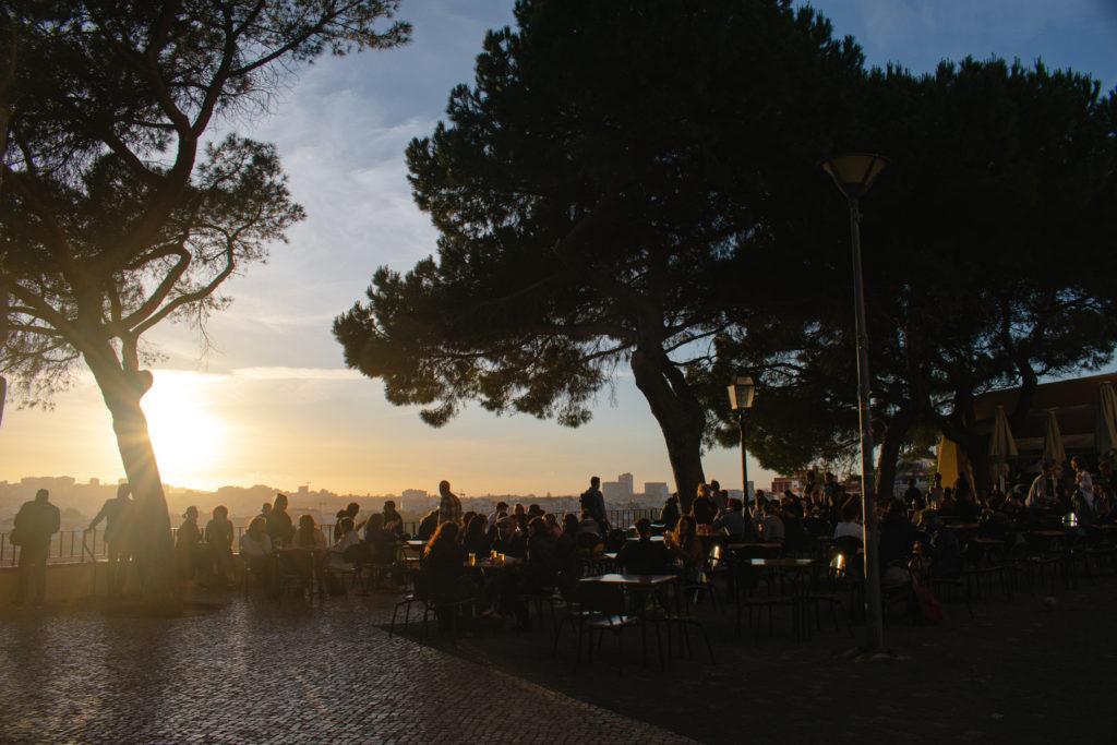 Best bars and restaurants in Graca Lisbon Esplanada da Graca
