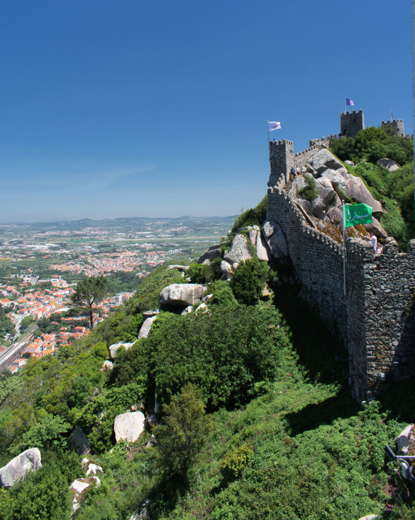 Castle of the Moors visiting Sintra from Lisbon