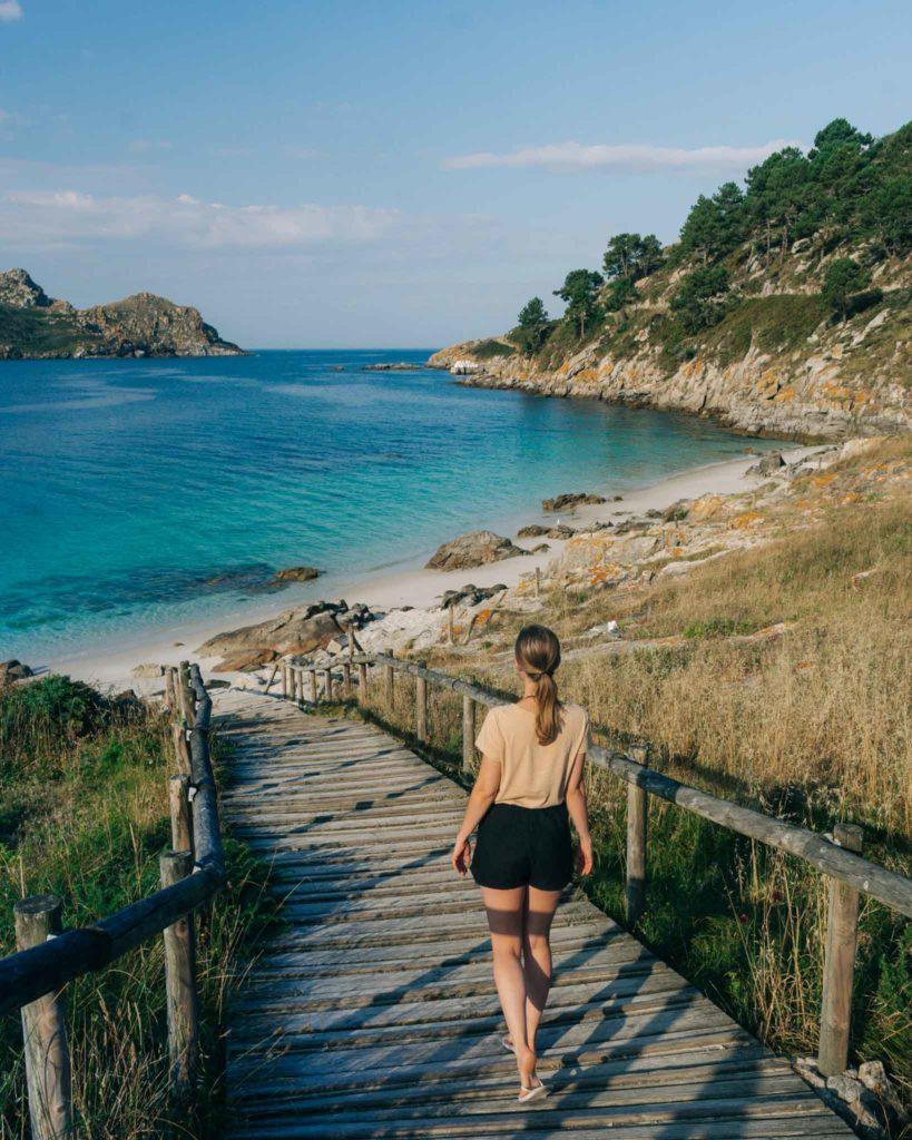 Nosa Senora Beach Cies Islands Galicia