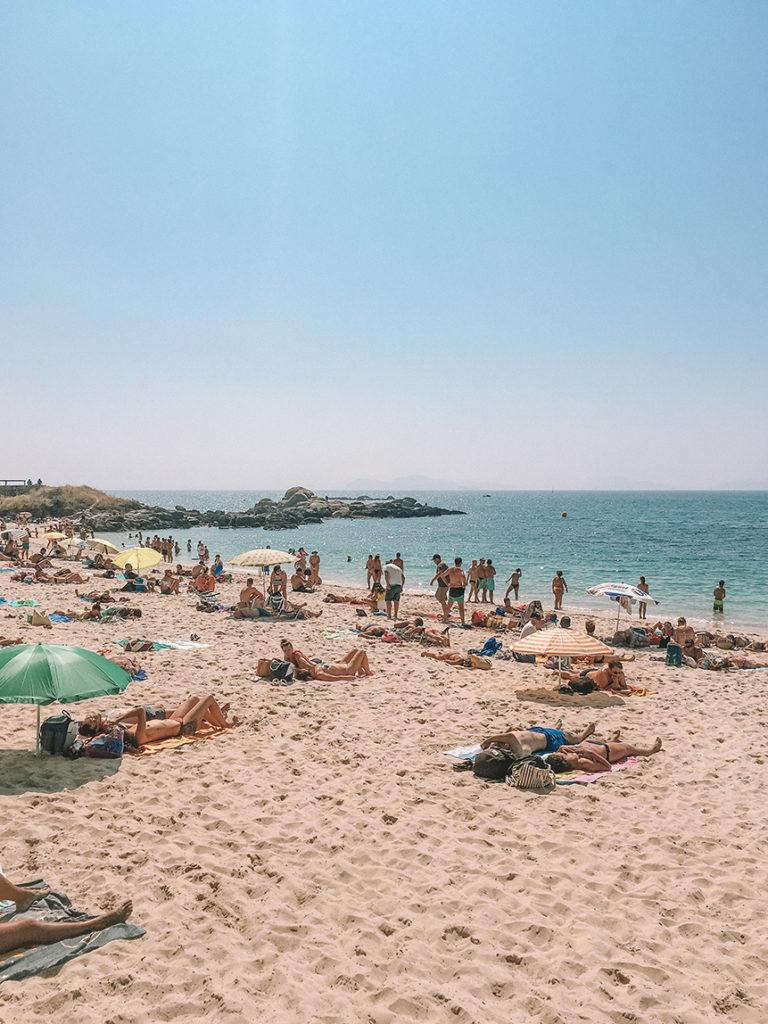 A beach in Vigo Galicia