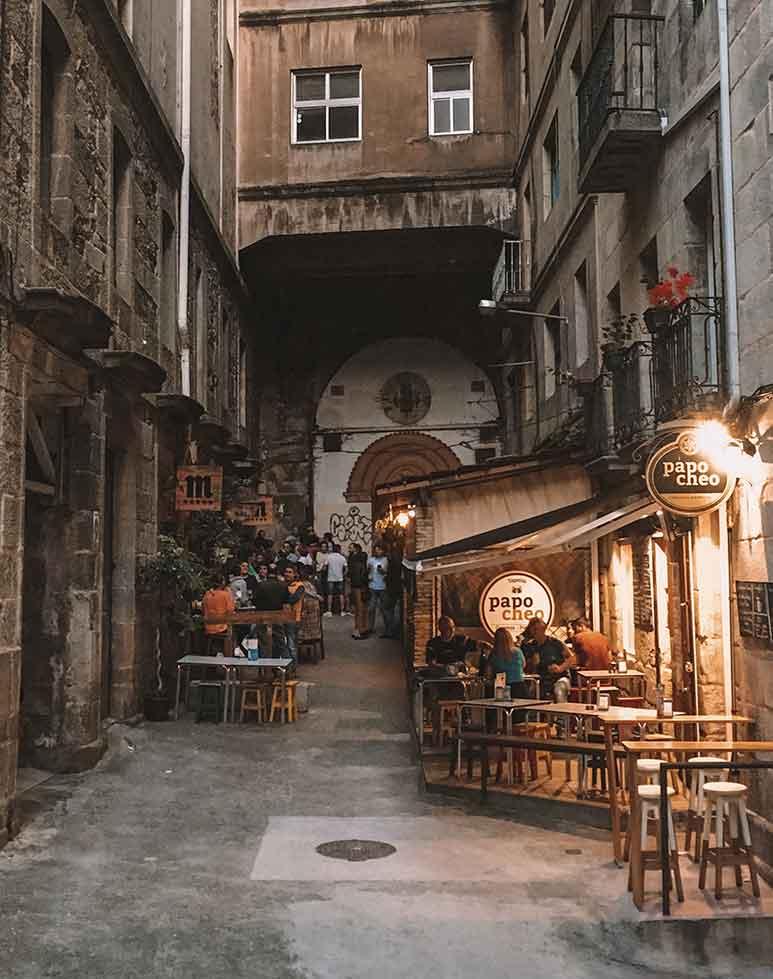 Street in Vigo Old Town Galicia