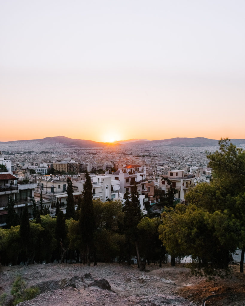 Best sunset viewpoints in Athens Strefi Hill Athens