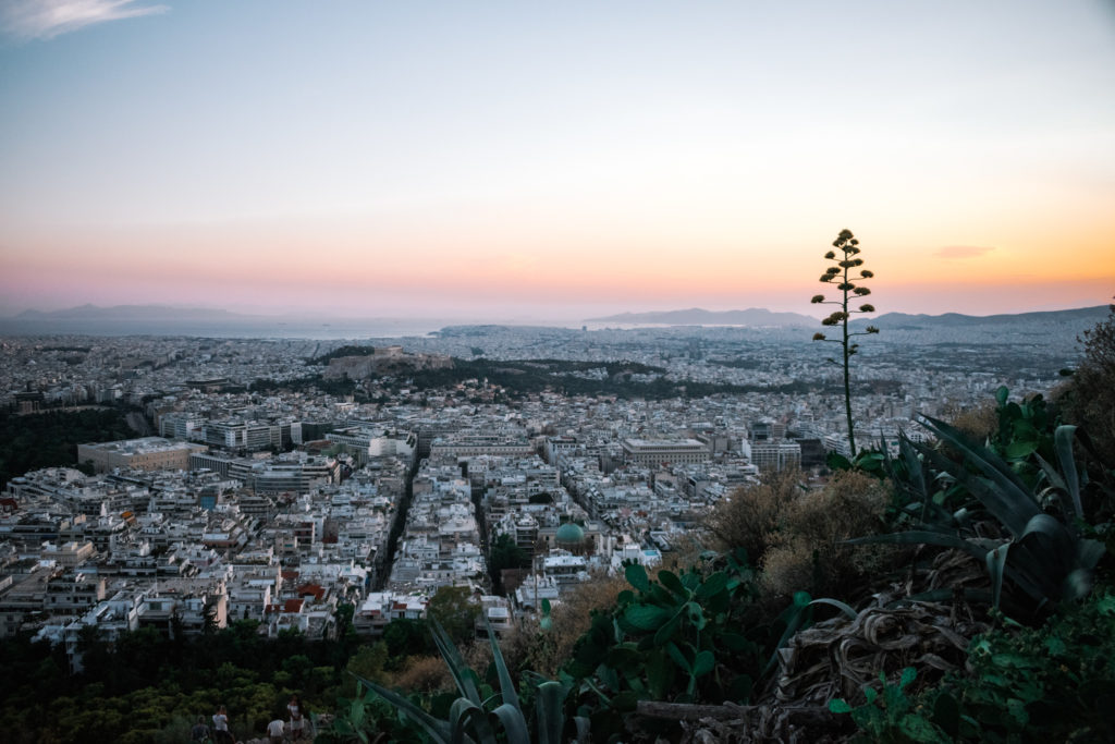 Mount Lycabettus Athens Sunset