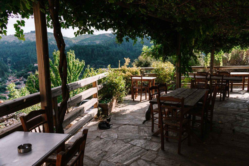 The restaurant at Pritanio Guesthouse