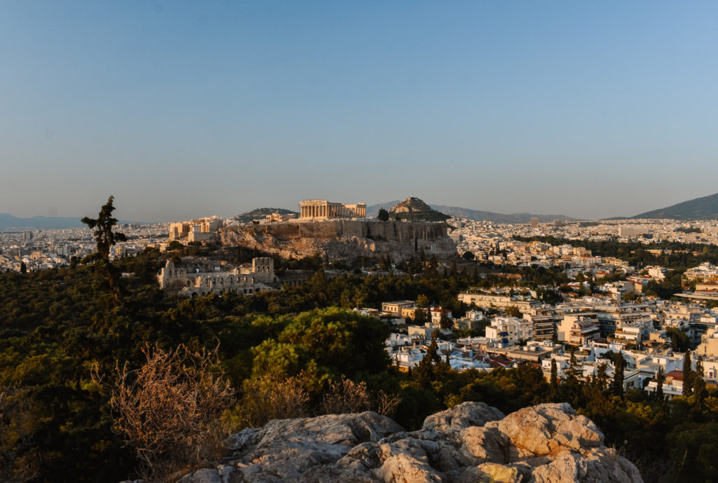 Best sunset viewpoints in Athens Filopappou Hill